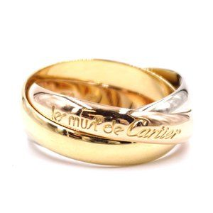 Tricolor 18k White Gold Yellow Size 52 4.75 Ring